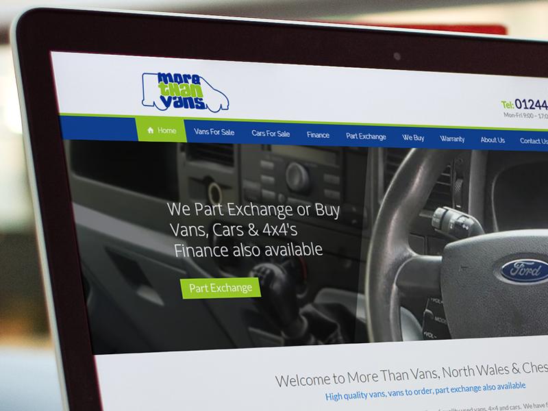 Portfolio More Than Vans Web Design North Wales 01745 289111